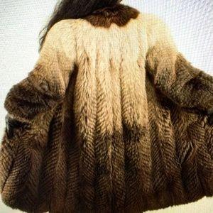 Jackets & Blazers - Genuine Fox Fur Coat,  Size S - M